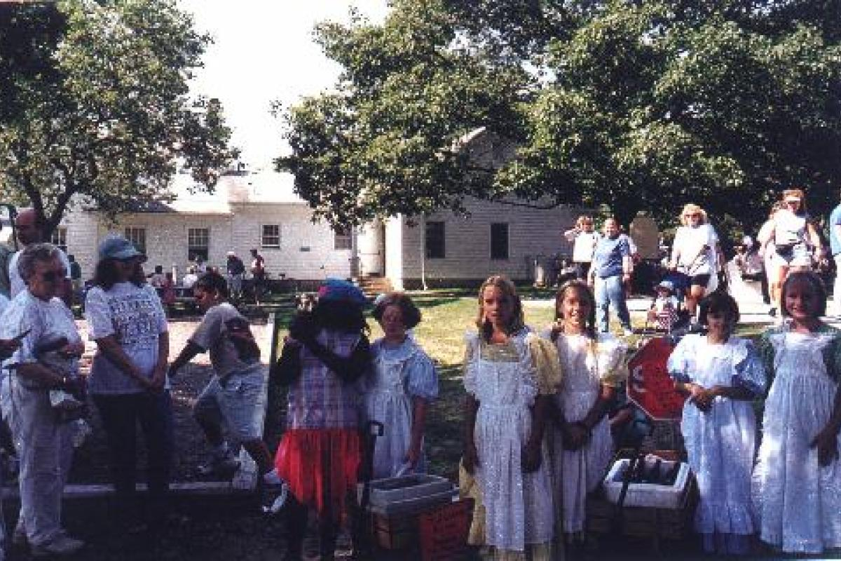 Brielle Day Celebration - Children in Costume Helping Sell Old Fashion Sarsaparella