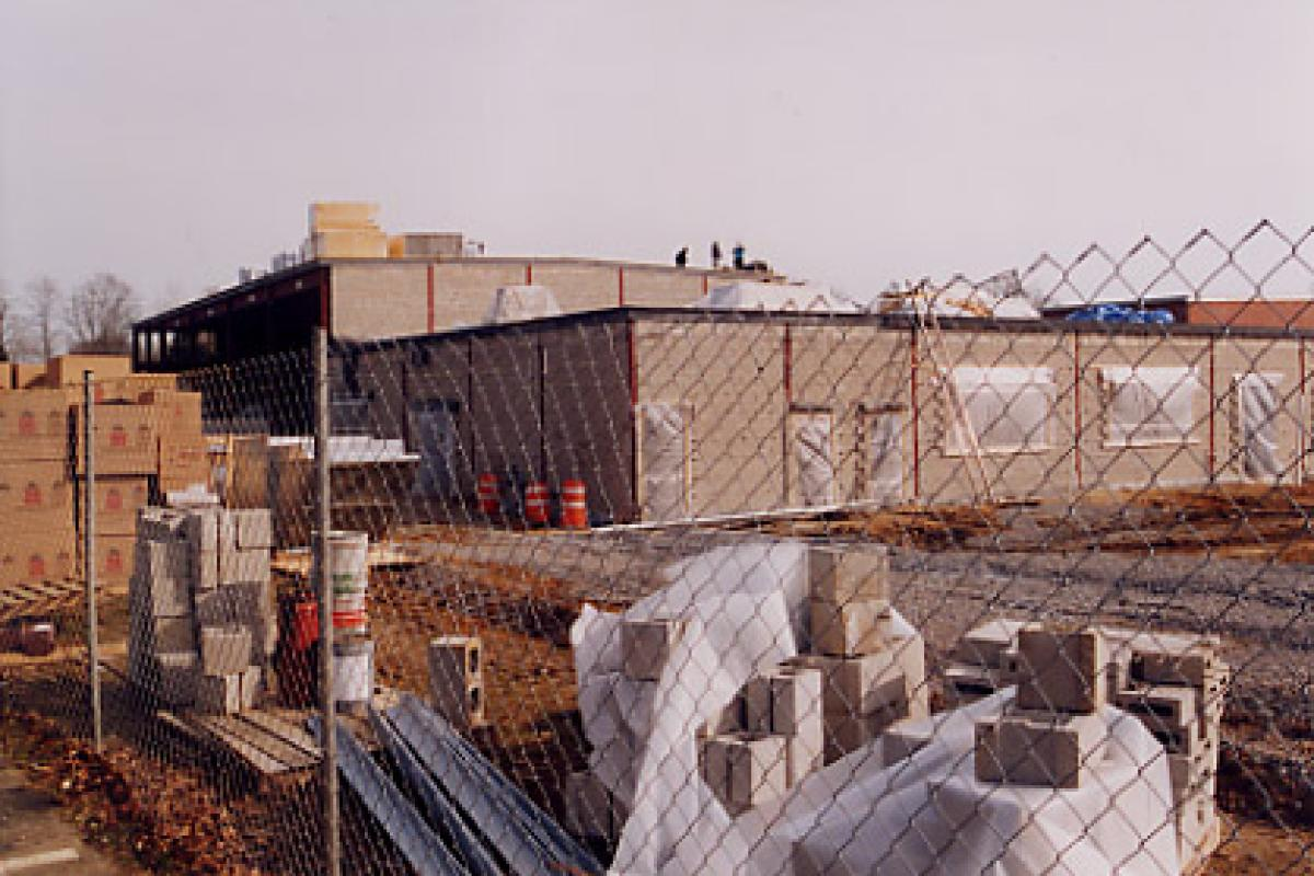 Construction of the Fine New Addition to Our School, Feb 2002