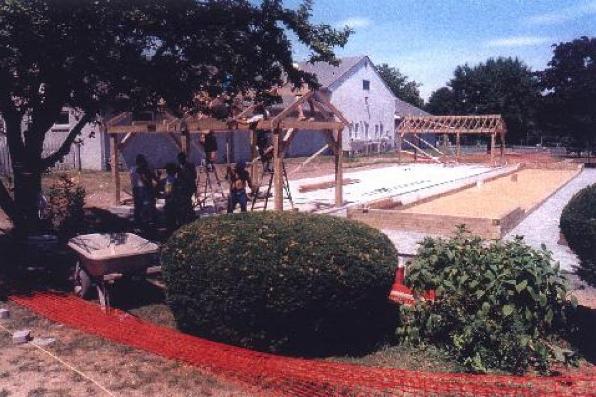Construction of Bocce and Shuffleboard Courts in Brielle Park at rear of Library (8/99)